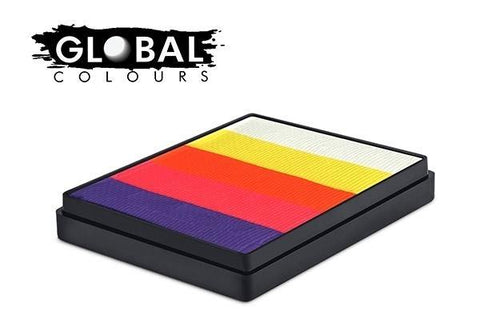 Global Colours Rainbow Cake Caribbean-50g, Face Paint, Global Colours, T. Myers Magic Inc. - T. Myers Magic Inc.