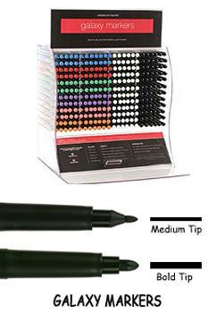 Galaxy Single Medium Tip Marker-Black, Markers, Galaxy, T. Myers Magic Inc. - T. Myers Magic Inc.