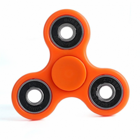 Neon Hand Spinner-Orange, Spinners, Rhode Island Novelty, tmyers.com - T. Myers Magic Inc.
