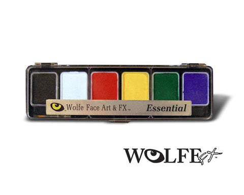 HYDROCOLOR 6 COLOR PALETTES Essential, Wolfe Paint, WolfeFX, tmyers.com - T. Myers Magic Inc.