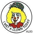 I Met a Clown Today (Female) Stickers 250 ct, Stickers, ClownSupplies.com, tmyers.com - T. Myers Magic Inc.