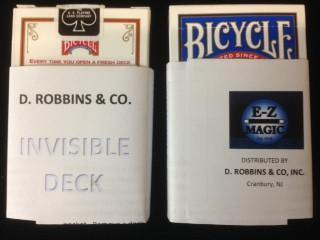 Invisible Deck, Card, D Robbins, tmyers.com - T. Myers Magic Inc.