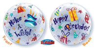 Q Make A Wish Birthday Bubble-1 Count, Bubble, Qualatex, tmyers.com - T. Myers Magic Inc.