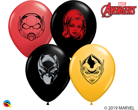 "5"" Round Qualatex Marvel Avenger 2 Heroes Face Assortment-100 Count, 5RQI, Qualatex, tmyers.com - T. Myers Magic Inc."