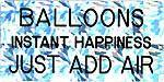Balloons Instant Happiness Just Add Air-Engraved Tip Pin, Pins, Rocky Five, tmyers.com - T. Myers Magic Inc.