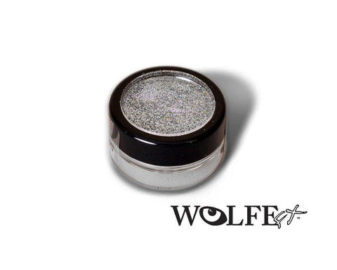 COSMETIC BODY GLITTER  Silver, Wolfe Paint, WolfeFX, tmyers.com - T. Myers Magic Inc.