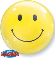Smiley Face Bubble-1 Count, Bubble, Qualatex, tmyers.com - T. Myers Magic Inc.