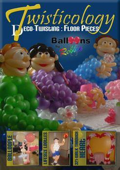 Twisticology 1: Floor Pieces, DVD, Robbie Furman - Deco-Twisting, tmyers.com - T. Myers Magic Inc.