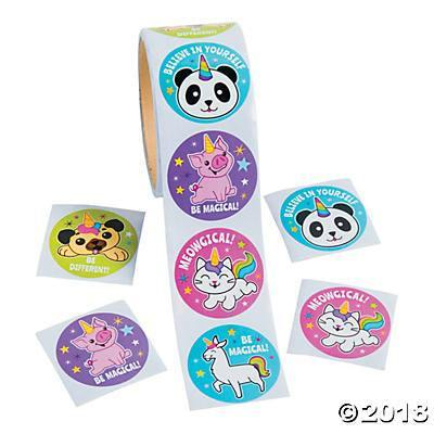 Anicorn Roll Stickers, Stickers, Fun Express, tmyers.com - T. Myers Magic Inc.