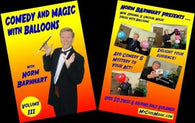 Comedy Magic with Balloons Volume 3 DVD, DVD, Norm Barnhart, tmyers.com - T. Myers Magic Inc.