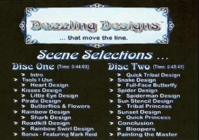 Dazzling Designs DVD, DVD, Carol Turman - Face Painting, tmyers.com - T. Myers Magic Inc.