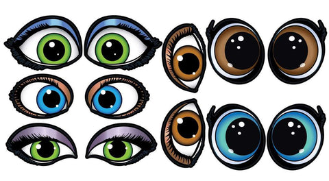 Princess Eyes Stickers 200ct Roll
