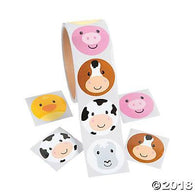 Simple Face Farm Sticker, Stickers, Fun Express, tmyers.com - T. Myers Magic Inc.