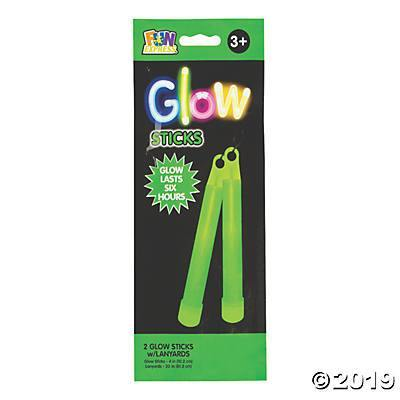 "Glow Stick 2 Ct 4"" Green, Accessories, T. Myers, tmyers.com - T. Myers Magic Inc."
