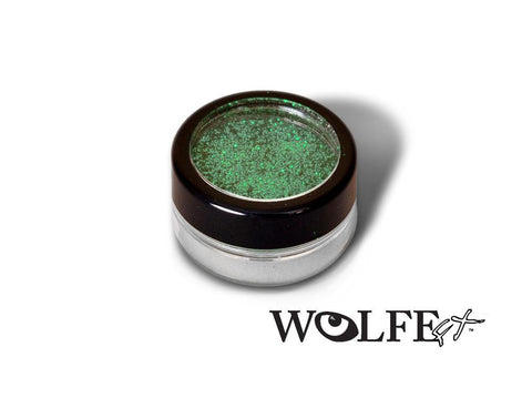 COSMETIC BODY GLITTER  Green, Wolfe Paint, WolfeFX, tmyers.com - T. Myers Magic Inc.