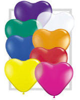 "6"" Qualatex Heart Jewel Assortment-100 Count, 6HQ, Qualatex, tmyers.com - T. Myers Magic Inc."