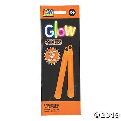 "Glow Stick 2 Ct 4"" Orange, Accessories, T. Myers, tmyers.com - T. Myers Magic Inc."
