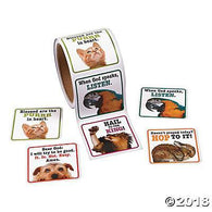 Praying animal Sticker, Stickers, Fun Express, tmyers.com - T. Myers Magic Inc.