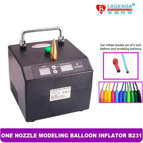 B231 Professional BOROSINO Modeling Balloon Inflator with 6600 mA Lithium-ion battery, pump, T. Myers Magic Inc., T. Myers Magic Inc. - T. Myers Magic Inc.