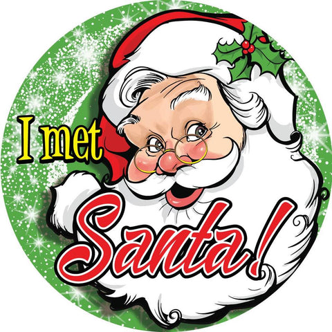 STICKERS AA050 I Met Santa, Stickers, ClownSupplies.com, tmyers.com - T. Myers Magic Inc.