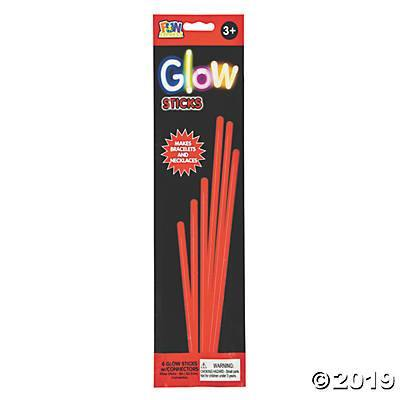 "8"" Glow Jewelry Sticks Red 6 Ct, Accessories, T. Myers, tmyers.com - T. Myers Magic Inc."