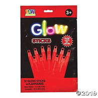 "Glow Stick 12Ct 4"" lanyards Red, Accessories, T. Myers, tmyers.com - T. Myers Magic Inc."