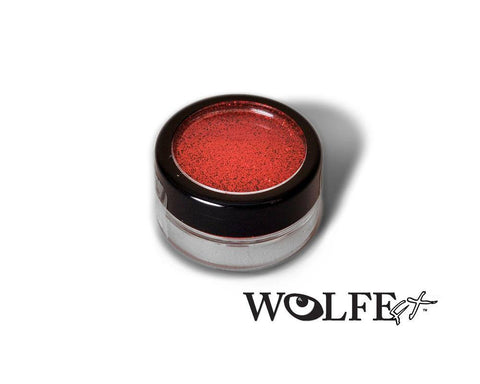 COSMETIC BODY GLITTER  Red, Wolfe Paint, WolfeFX, tmyers.com - T. Myers Magic Inc.