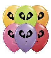 "5"" Qualatex Space Alien Assortment-100 Count, 5RQI, Qualatex, tmyers.com - T. Myers Magic Inc."