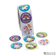 Unicorn Stickers, Stickers, Fun Express, tmyers.com - T. Myers Magic Inc.