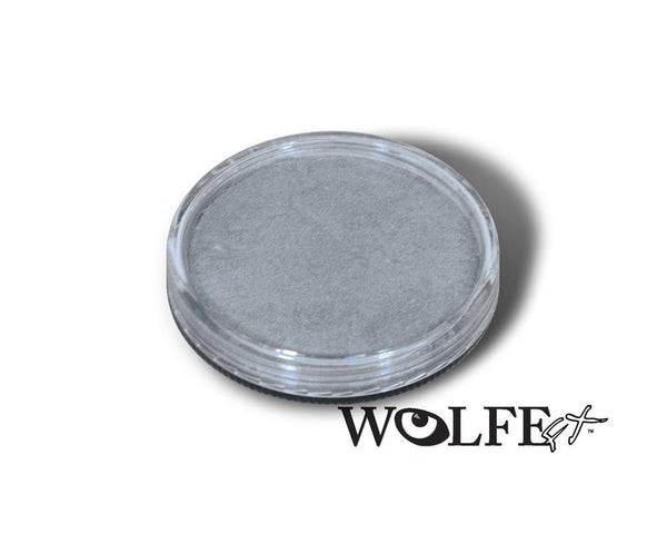 WB Hydrocolor Essentials Cake Silver  -30g, Wolfe Paint, WolfeFX, tmyers.com - T. Myers Magic Inc.