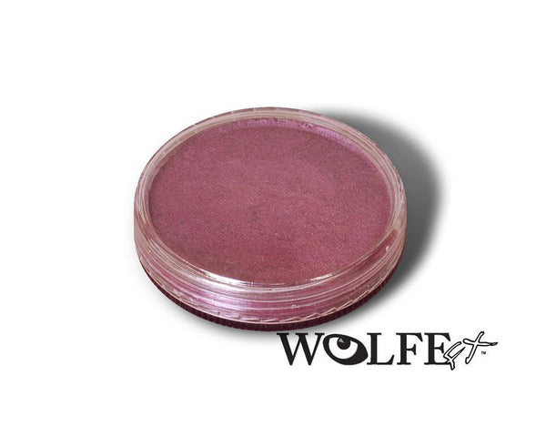 WB Hydrocolor Essentials Cake Metallic Fushia  -30g, Wolfe Paint, WolfeFX, tmyers.com - T. Myers Magic Inc.