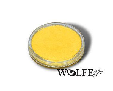 WB Hydrocolor Essentials Cake Metallic Yellow  -30g, Wolfe Paint, WolfeFX, tmyers.com - T. Myers Magic Inc.
