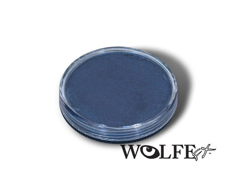 WB Hydrocolor Essentials Cake Metallic Blue  -30g, Wolfe Paint, WolfeFX, tmyers.com - T. Myers Magic Inc.