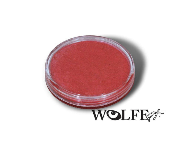 WB Hydrocolor Essentials Cake Metallic Red -30g, Wolfe Paint, WolfeFX, tmyers.com - T. Myers Magic Inc.