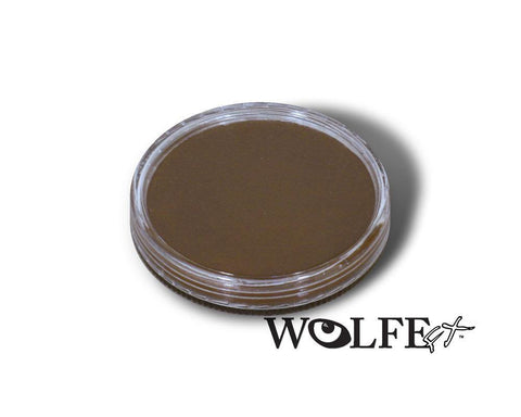 WB Hydrocolor Essentials Cake Saddle Brown  -30g, Wolfe Paint, WolfeFX, tmyers.com - T. Myers Magic Inc.