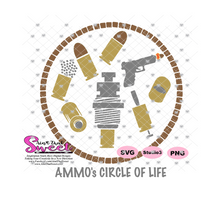 Ammo Circle Of Life Reloader, Ammo Casing, Bullet, Gun - Transparent PNG, SVG  - Silhouette, Cricut, Scan N Cut