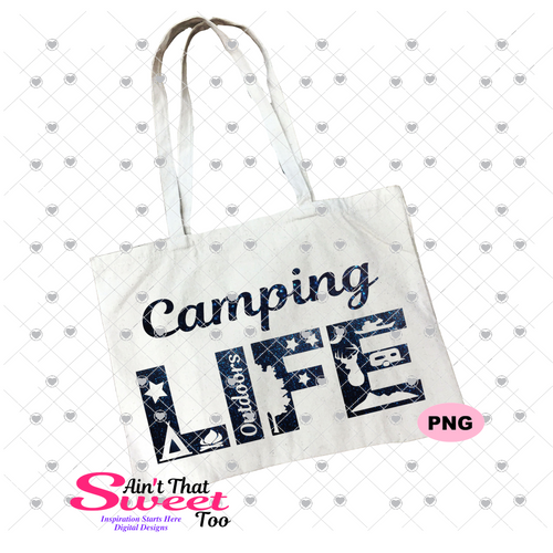 Camping Life - Transparent PNG, SVG, Studio3 - Silhouette, Cricut, Scan N Cut