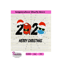 2020 Santa Toilet Paper Mask Sunglasses - Transparent PNG, SVG  - Silhouette, Cricut, Scan N Cut