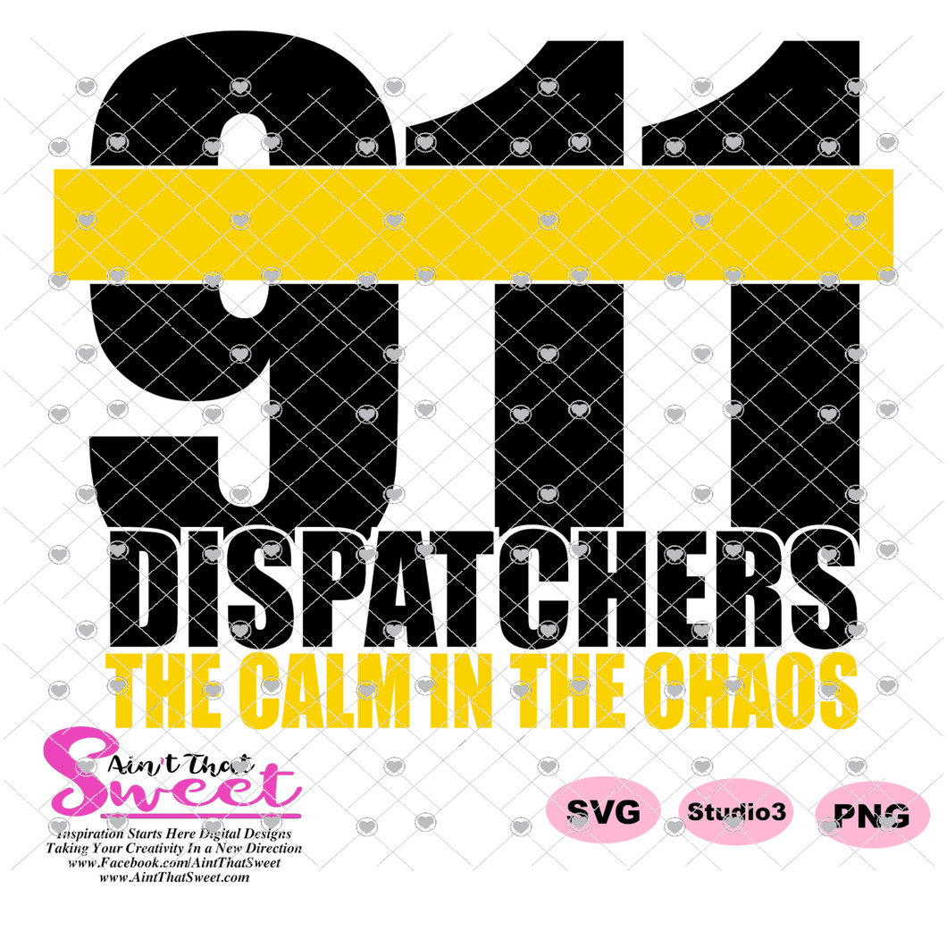 911 - Dispatchers Calm In The Chaos - Transparent PNG, SVG