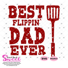Best Flippin Dad Ever  - Transparent PNG, SVG  - Silhouette, Cricut, Scan N Cut