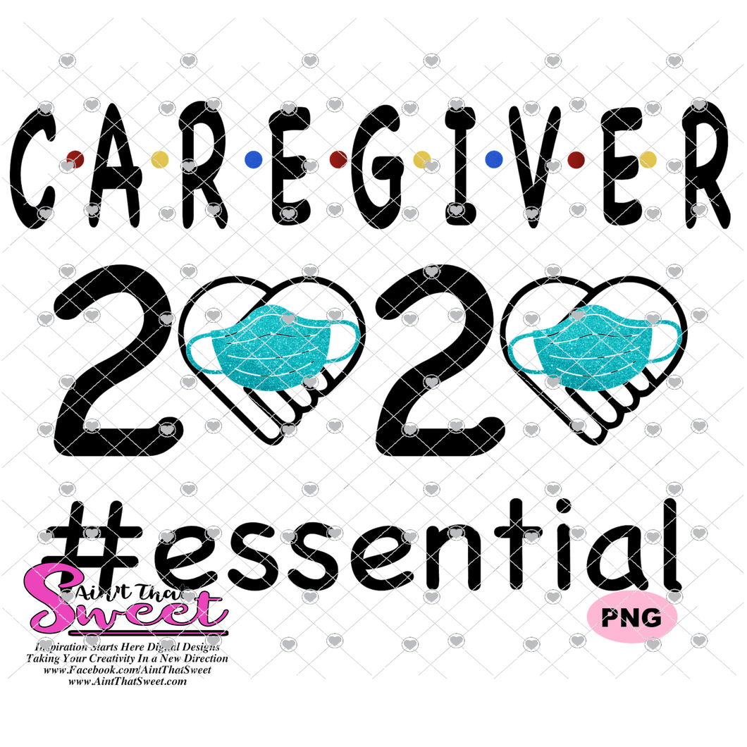 Caregiver 2020 With Mask #Essential- Transparent PNG, SVG