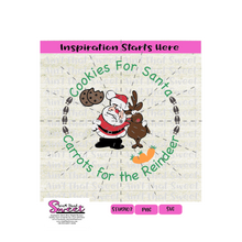 Cookies For Santa, Carrots For The Reindeer - Transparent SVG-PNG  - Silhouette, Cricut, Scan N Cut