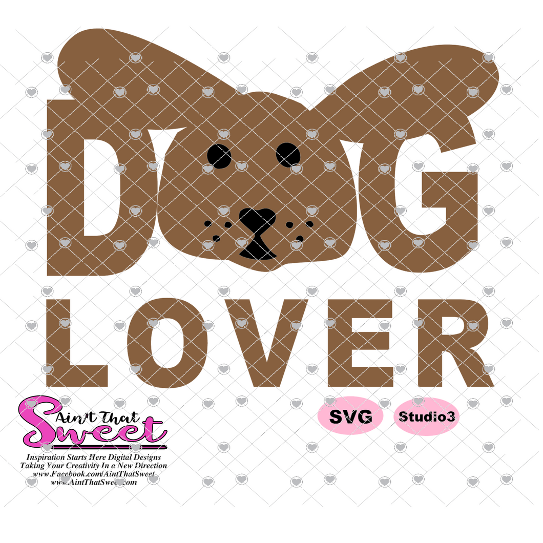 Dog Lover - Big Ear Puppy - Transparent PNG, SVG - Silhouette, Cricut, Scan N Cut