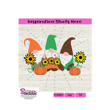 Fall Gnomes - Thanksgiving, Autumn, Pumpkins, Flowers - Transparent PNG, SVG  - Silhouette, Cricut, Scan N Cut