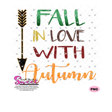 Fall In Love With Autumn, Arrow - Transparent SVG-PNG  - Silhouette, Cricut, Scan N Cut
