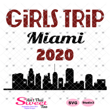 Girls Trip Miami 2020 Cityscape - Transparent PNG, SVG