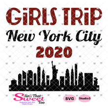 Girls Trip New York City 2020 Cityscape - Transparent PNG, SVG