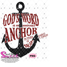 God's Word Is An Immovable Anchor In Times Of Storm-Charles F Stanley - Transparent PNG, SVG