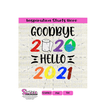 Goodbye 2020 Hello 2021 Toilet Paper Mask - Transparent PNG, SVG  - Silhouette, Cricut, Scan N Cut