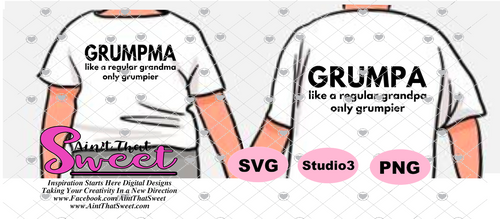 Grumpa-Like A Regular Grandpa Only Grumpier and Grumpma-Like A Regular Grandma Only Grumpier- Transparent PNG, SVG